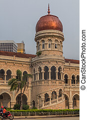 Sultan Abdul Samad Building in Kuala Lumpur, Malays