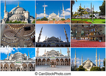 Blue Mosque in Istanbul - Sultan Ahmed Blue Mosque in...
