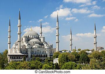 sultan, ahmed, moské, in, istanbul, turkiet