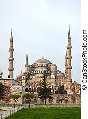 Sultan Ahmed Mosque (Blue Mosque) in Istanbul in the morning