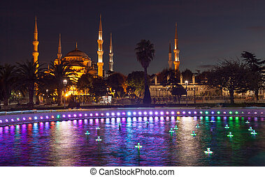 Sultan Ahmed Mosque (Blue Mosque), Istanbul, Turkey. -...
