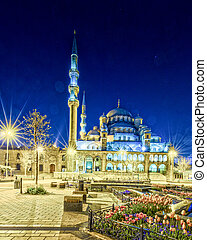 Sultan Ahmed Mosque by night