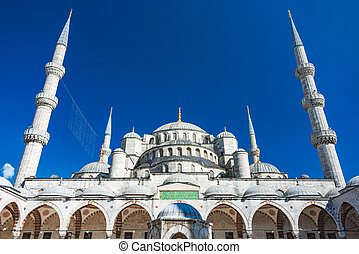 Sultan Ahmed mosque in istanbul, Turkey. - Old and beautiful...