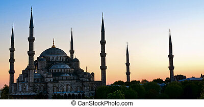 Sultan Ahmed Mosque known as the Blue Mosque, in Istanbul. Turkey