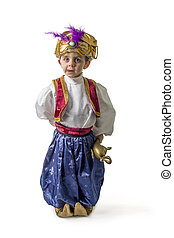 Sultan child smilling on white