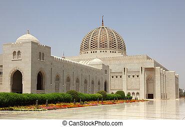 sultan, oman, grande mosquée, qaboos, muscat