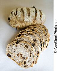Sultana Bread - Sliced traditional golden brown sultana...