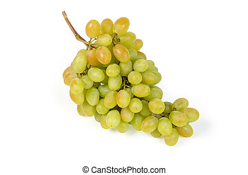 Sultana grape cluster on a white background