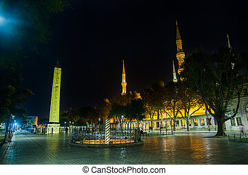 Sultanahmet Meydani by night - The Serpent Column and...