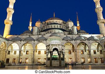 sultanahmet, moschea, notte