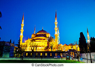 sultano, ahmed, moschea, (blue, mosque), in, istanbul