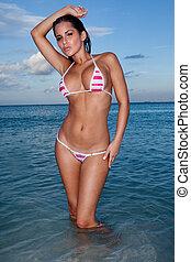 Sultry Sexy Woman In Bikini