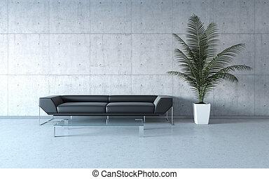 sumamente, elegante, minimalism, interior