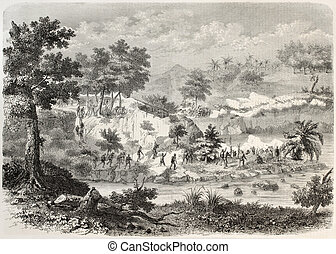 Sumatra expedition - Dutch troops in Sumatra fighting ...