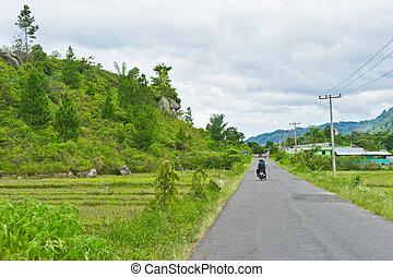 sumatra, route, vue