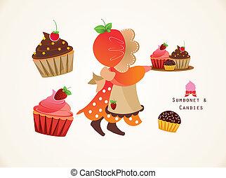 sumbonet, y, cupcake