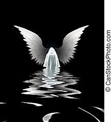 sumergido, ángel