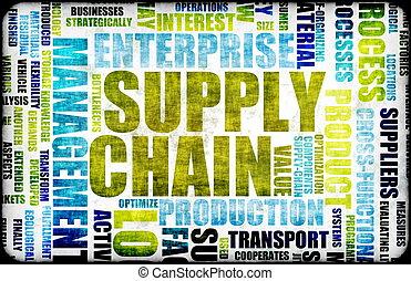 suministro, cadena, dirección