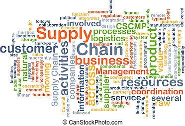 suministro, cadena, plano de fondo, concepto
