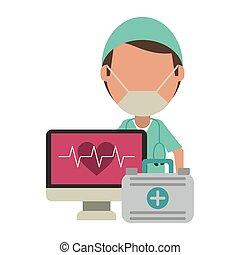 suministros, médico, atención sanitaria
