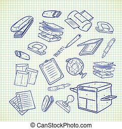Gr ficos vectoriales eps de grapadora caricatura oficina for Suministros oficina
