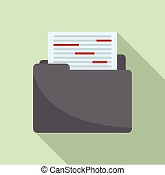 Summary editor icon, flat style