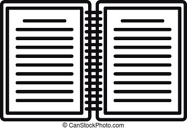 Summary editor icon. Outline summary editor vector icon for web design isolated on white background