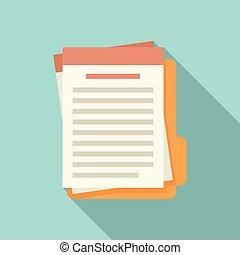 Summary folder icon, flat style