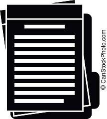 Summary folder icon, simple style