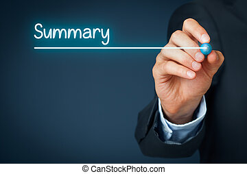 Summary heading - background template for business...