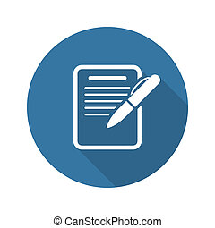 Summary Icon. Business Concept. Flat Design. Isolated...