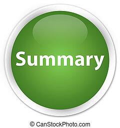 Summary premium soft green round button
