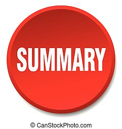 summary red round flat isolated push button
