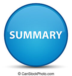 Summary special cyan blue round button