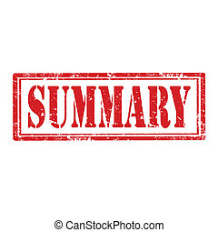 Grunge rubber stamp with word Summary, vector illustration