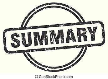 summary vintage stamp. summary sign