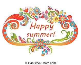 summer!, 开心