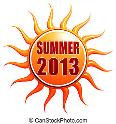 summer 2013 in 3d sun label