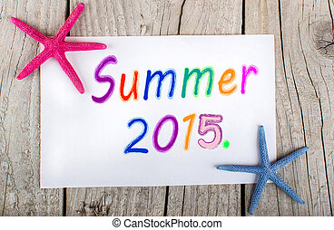 summer 2015 background with starfis