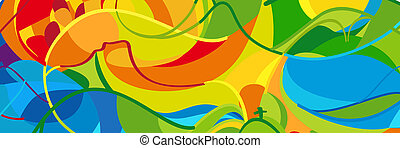 Summer abstract background, Olympic and Paralympic Games...