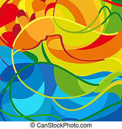 Summer abstract background - Summer abstract colorful...