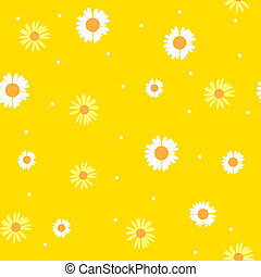 Summer Abstract Seamless Pattern Background with Flowers.  Illustration