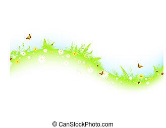summer abstract wavy meadow