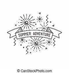 Summer adventure. Inspirational vector illustration