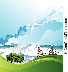Summer Alpine cycling vacation