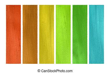 Summer and wood tones coconut paper banner set