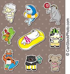 summer animal stickers
