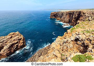 Summer Atlantic coast (Algarve, Portugal). - Summer Atlantic...