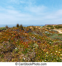 Summer Atlantic coast (Algarve, Portugal). - Summer ...