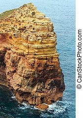Summer Atlantic rocky coast (Algarve, Portugal). - Rock ...